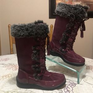 Sporto Leather Waterproof Lace Up Boots Size 8